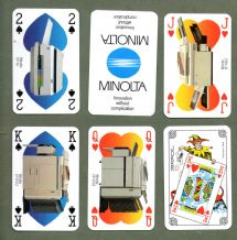 Collectible Advertising Belgium Playing cards Minolta